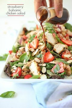 Healthy Balsamic Chicken Salad with Feta | Foodness Gracious