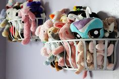 a cute way to store stuffed animals