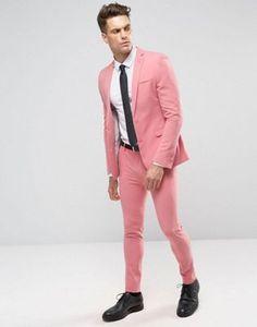 ASOS - Costume super slim - Rose moyen