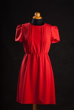 Great urban romantic red dress. With tremendous attention to the details this dress is perfect for the modern stylish and elegant woman. Very soft and warm thanks to high quality fabric. The dress is unique and is available in one piece only like all La Pomme D'Eve garments.   Handcrafted by gr...