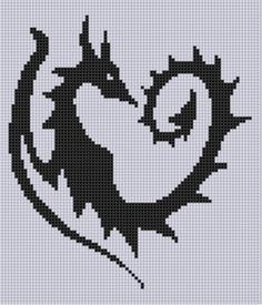 """Dragon Heart Cross Stitch Pattern Size on 14 count roughly 6"""" X 7"""" Includes Cross Stitch Tips http://www.craftsy.com/pattern/embroid..."""