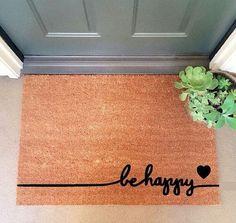FREE Shipping!  Be Happy Coir Doormat Coir Funny Doormat / Welcome Mat / Bob Marley Doormat