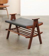 1950s Danish Modern Teak Stool Chair Bench Mid Century Finn Juhl Eames Era