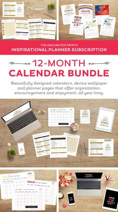 Organized for the Year 12 month Calendar Bundle from Elegance and Enchantment | Free download wallpapers on TodaysCreativeLif...