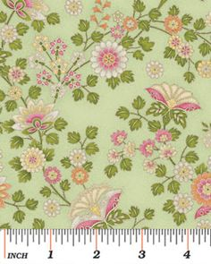Benartex - Arabella 4185-4 ORNAMENTAL FLORAL GREEN