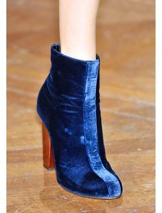 dries van noten blue velvet shoe boots