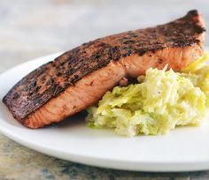 Corned Beef-Cured Atlantic Salmon wit Colcannon