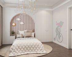 Bedroom Wall Designs, Room Design Bedroom, Home Room Design, Bedroom Decor, Girl Bedroom Walls, Girl Room, Design Hall, Room Interior, Interior Design