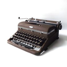 vintage 1940's royal quiet deluxe typewriter machine mechanical manual type typing antique old retro office decorative home decor brown by RecycleBuyVintage on Etsy