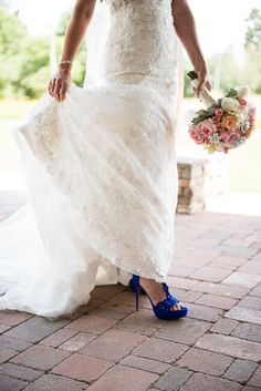 Blue Wedding High Heels