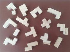 Les pièces pour faire un cube