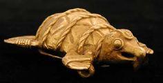 Pre-Columbian Art / Gold Pendant of a Turtle - FJ.6156 Origin: Costa Rican/Panamanian Border Area Circa: 500 AD to 1550 AD