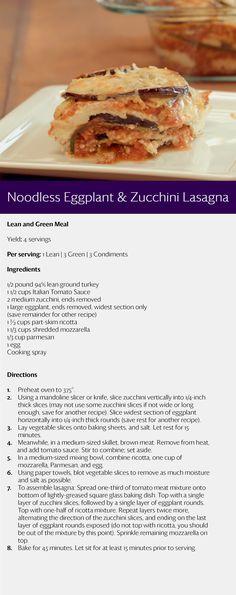 TSFL Eggplant & Zucchini Lasagna