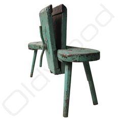 Industrieel Vintage Werkbankje Imad met bankschroef - hout groen - Oldwood - De Woonwinkel