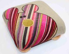Nosey Parker Designs - footstool  http://www.noseyparkerdesigns.co.uk/
