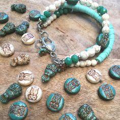 Owl Bracelet, Bracelets, Beaded Jewellery, Jewelry, Beads Online, Turquoise Necklace, Australia, Jewlery, Bijoux