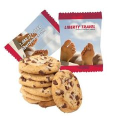 Custom Individually Wrapped Large Chocolate Chip Cookie -Contact us @ sales@starlightad.com for more information today!