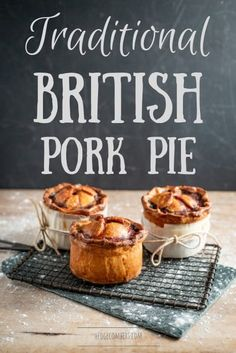 Pie Recipes 367606388334338485 - A traditional British Pork Pie is served cold, like a picnic pie. It's made with 'Hot Water Crust Pastry', filled with chopped, seasoned pork and a strong stock which sets into a savoury jelly. Pork Pie Recipe, English Meat Pie Recipe, British Meat Pie Recipe, British Food Recipes, English Recipes, Russian Recipes, Pie Recipes, Cooking Recipes, Curry Recipes