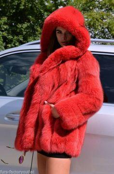 FOX FURS - rose royal saga fox fur coat with hood by lafuria - furs outlet Long Fur Coat, Coats For Women, Clothes For Women, Fox Coat, Red Fur, Long Jackets, Fur Jackets, Spring Fashion Trends, Fur Fashion