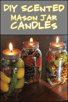 Fill Your Home With Wonderful Aromas by Making These DIY Scented Mason Jar Candles