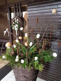 Easter Decor, Eggs, Wreaths, Spring, Plants, Summer, Balcony, Easter Activities, Summer Time