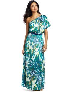 Tiana B Women's Watercolor Wonderland Maxi Dress