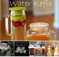 Water Kefir - Kefir (both water and milk) is full of all sorts of beneficial yeasts, micro-nutrients, enzymes, and good bacteria. True health starts in the gut, so getting as many good bacteria into our bellies is of great importance! It's considered a probiotic beverage and it's safe for everyone in the family to enjoy. http://pinterest.com/alexca/water-kefir/