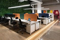 An Open Plan Office equiped with VicOffice Desk Top will help to manage privacy and control noise. Office Open Plan, The Office, Desk Dividers, Desk Dimensions, Shared Office, Workspaces, Offices, How To Plan, Top