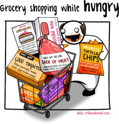 grocery shopping while full...this is so what i do