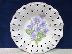 Handmade Porcelain Violet Bowl Dish Home by PorcelainChinaArt