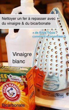 Comment Nettoyer un Fer à Repasser Avec du Vinaigre Blanc et du Bicarbonate.