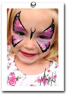 butterfly face painting by mimicks