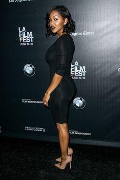Megan Good Black Girls Rock, Black Boys, Megan Good, Ebony Beauty, Got The Look, Beautiful One, American Actress, Work Wear, Bodycon Dress