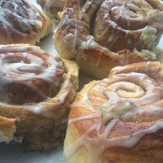 Homemade cinnamon buns.
