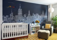NYC Skyline Mural by Abi Daker for Donjiro Ban $725