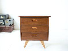 Vintage teak ladenkastje | Vintage Furniture Base