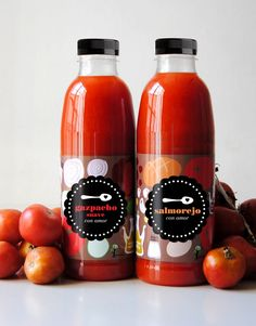 I love gazpacho just like I love this #packaging. So clean and simple, the red really pops PD