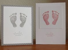 """Die schlichte Karte: Babyglück """"Babyglück"""", """"Frühlingsgefühle"""" von Stampin` up"""