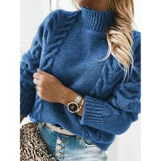 Casual Sweaters, Winter Sweaters, Blue Sweaters, Pullover Sweaters, Sweaters For Women, Tunic Sweater, Sweater Outfits, Cardigans, Skirts With Boots