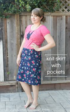 knit skirt with pockets: tutorial and free pocket pattern