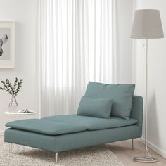 SÖDERHAMN, Chaise longue, Samsta orange, SÖDERHAMN seating series allows you to sit deeply, low and softly with the loose back cushions for extra support. Söderhamn Sofa, Ikea Sofa, Bed Slats, Comfortable Sofa, Turquoise, Wood Veneer, Seat Cushions, Keep It Cleaner, Living Room Decor