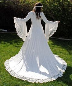 Victoria Velvet and Lace Medieval Fantasy Wedding Gown Custom