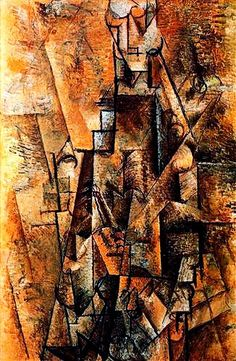 """Clarinetist"".....Artist: Pablo Picasso Completion Date: c.1911 Style: Analytical Cubism Period: Cubist Period Genre: genre painting Technique: oil Material: canvas Gallery: Private Collection."