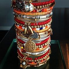 alex and ani. I own the sailboat and love it! love them all bunched up