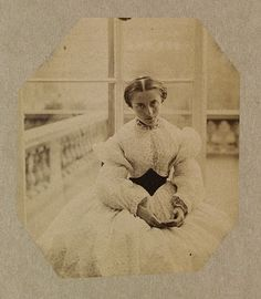 Albumen print, 1861 by Lady Hawarden Clementina (1822-1855)  Isn't she pretty!!!