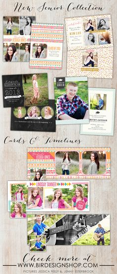 Senior Collection templates for photographers