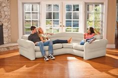 INTEX Corner Sofa Aufblasbare Möbel Perfekte Couch Garten Strand Pool See Strand