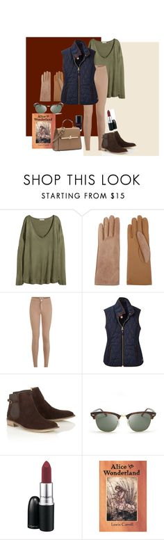 """The Quilted Vest #2"" by elizabethanneybarra ❤ liked on Polyvore featuring H&M, Chanel, Causse, Joules, Lipsy, Ray-Ban and MAC Cosmetics"
