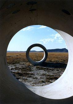 Nancy Holt: Sun Tunnel, 1973-76. Great Basin Desert, Utah.
