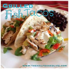 Grilled Fish Tacos  A delicious & healthy grilled fish taco that is perfect for a weeknight meal  Prep Time - 15 min Cook Time - 20 min Total Time - 45 min  Ingredients 16 oz Tilapia Filets 6 medium Limes 1 tsp Salt 1 tsp Pepper 4 tablespoons Light Sour Cream 4 tablespoons Salsa Verde 8 Corn Tortillas Toppings 1 medium Avocado (Chopped) 1/4 cup Cilantro (Chopped) 1 cup Chopped Greens (I used salad mix, you could use cabbage or anything you have on hand) 1 small Bell Pepper (Chopped) 1 small…